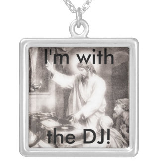 DJ Jesus Charm Silver Plated Necklace