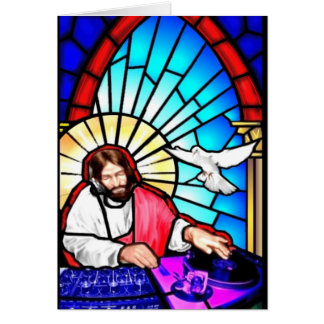 DJ Jesus Christmas card