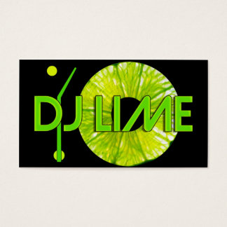 DJ LIME BUSINESS CARD