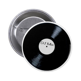 DJ Mix Record Label 6 Cm Round Badge