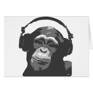 DJ MONKEY GREETING CARD