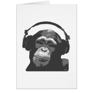 DJ MONKEY CARD