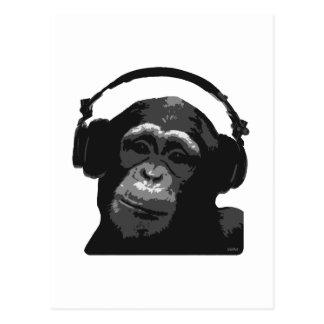 DJ MONKEY POSTCARD