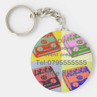 DJ muisc business Basic Round Button Key Ring
