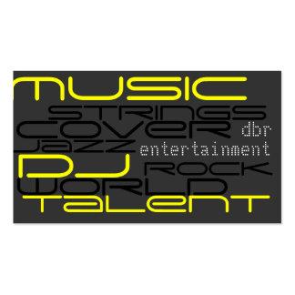 dj music pack of standard business cards
