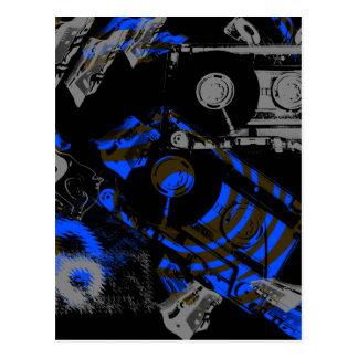 DJ Music Cassette Postcard