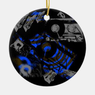 DJ Music Cassette Round Ceramic Decoration