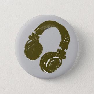 DJ music design 6 Cm Round Badge