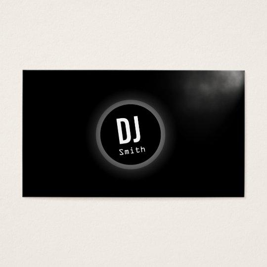 DJ Music Elegant Dark Monogram Business Card