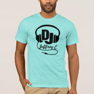 DJ name headphone black graphic t-shirt