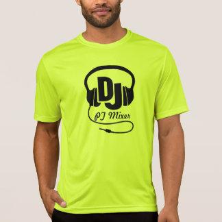 DJ name headphones black bright graphic t-shirt
