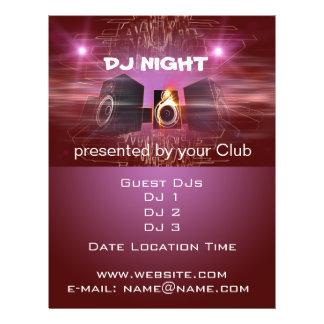 DJ Night 21.5 Cm X 28 Cm Flyer