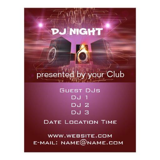 DJ Night Custom Flyer