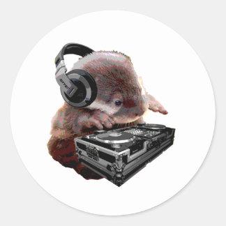 DJ None Otter Round Sticker