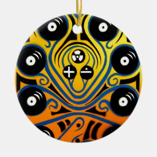 DJ Octopus in blue Christmas Ornament