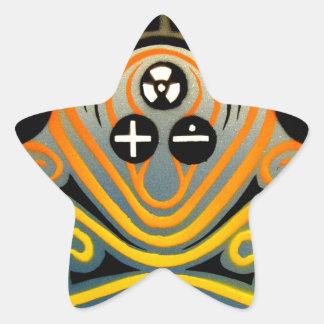 DJ Octopus in yellow Star Sticker