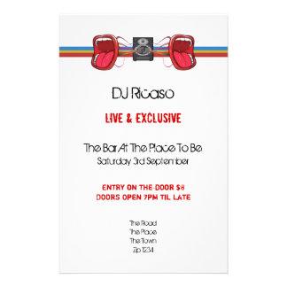 DJ Party 14 Cm X 21.5 Cm Flyer