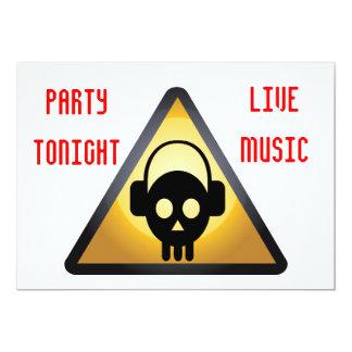 DJ party flyer 13 Cm X 18 Cm Invitation Card