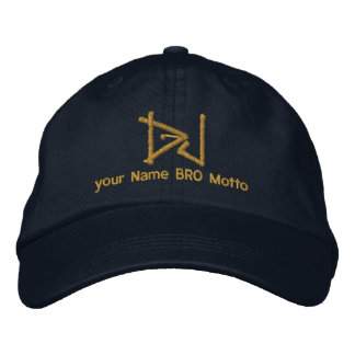 DJ Personalizable Cap Your Own Text Bro & Babe Embroidered Baseball Caps