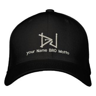 DJ Personalizable Cap Your Own Text Bro & Babe Embroidered Cap