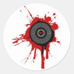 DJ Platter Splatter - Disc Jockey Turntable Deck Stickers