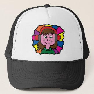 DJ RAINBOW TRUCKER HAT