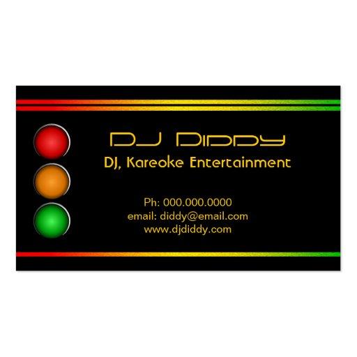 DJ Reggae Traffic Lights Custom Business Cards Business Card