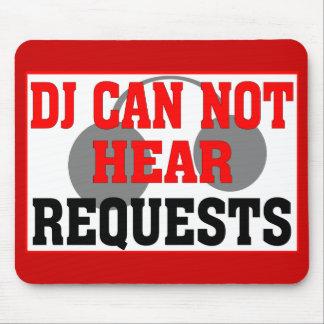 DJ REQUEST HEADPHONES MOUSE PAD