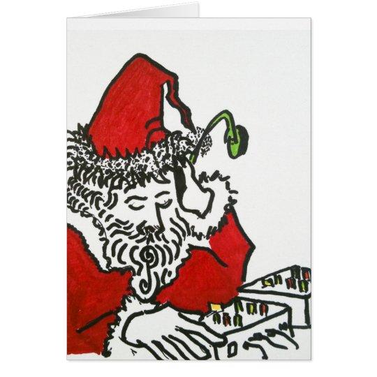 DJ Santa Card