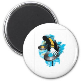 DJ Scratch'n 6 Cm Round Magnet