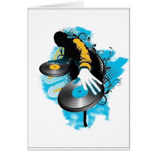 DJ Scratch'n Greeting Card
