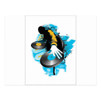DJ Scratch'n Postcard