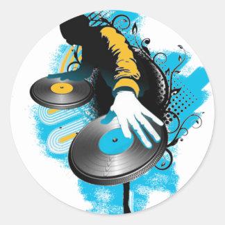 DJ Scratch'n Round Sticker