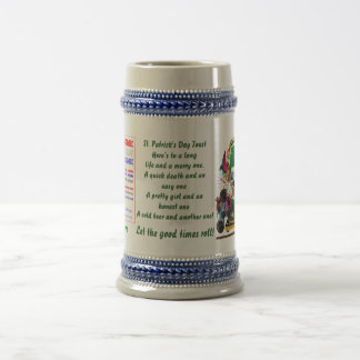 DJ. Shamrock Let the good times roll! View Hints 18 Oz Beer Stein