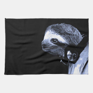 DJ Sloth Tea Towel