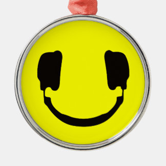 DJ smiley Christmas Ornament