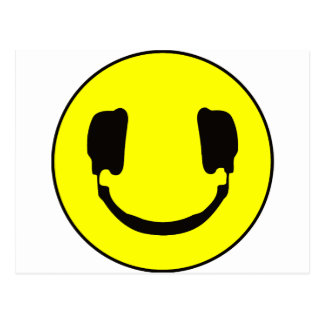 DJ smiley Post Card