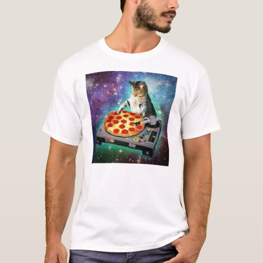 DJ Space Cat Spinning some sweet Za T-Shirt