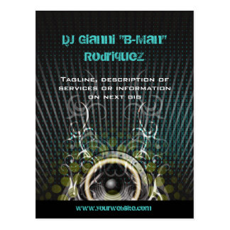 DJ Speaker Rays Promotional Postcard