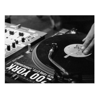 DJ spinning vinyl 1 Postcard