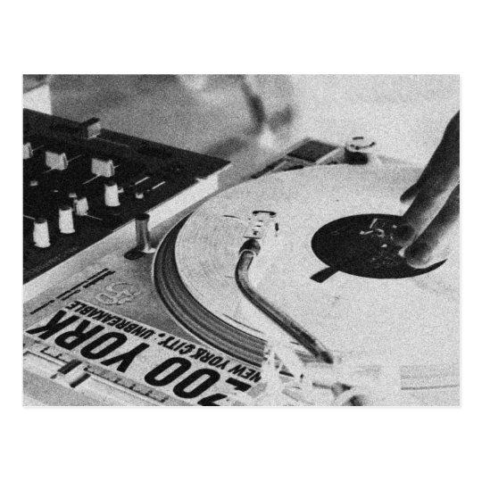 DJ spinning vinyl 2 Postcard