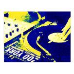 DJ spinning vinyl 3 Post Card
