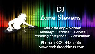 Dj business cards zazzle uk dj spinning vinyl business card magnet reheart Gallery