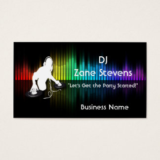 DJ Spinning Vinyl Business Card Template
