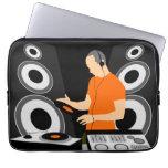 DJ Spinning Vinyl Laptop Computer Sleeves