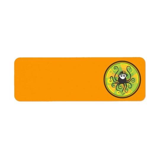 DJ Squid Green Return Address Label