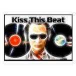 """DJ Stuff """"Kiss This Beat"""" Postcard"""