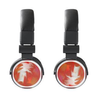 DJ Style headphones marble Design 1 red / white