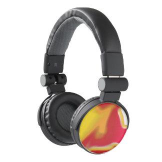 DJ Style headphones marble Design 5 pinkorangeyel