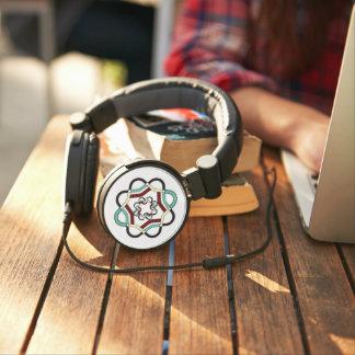 DJ Style Headphones MULTI-COLORED INTERTWINED LOGO